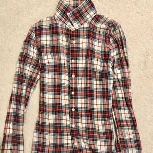 J. Crew red button down flannel